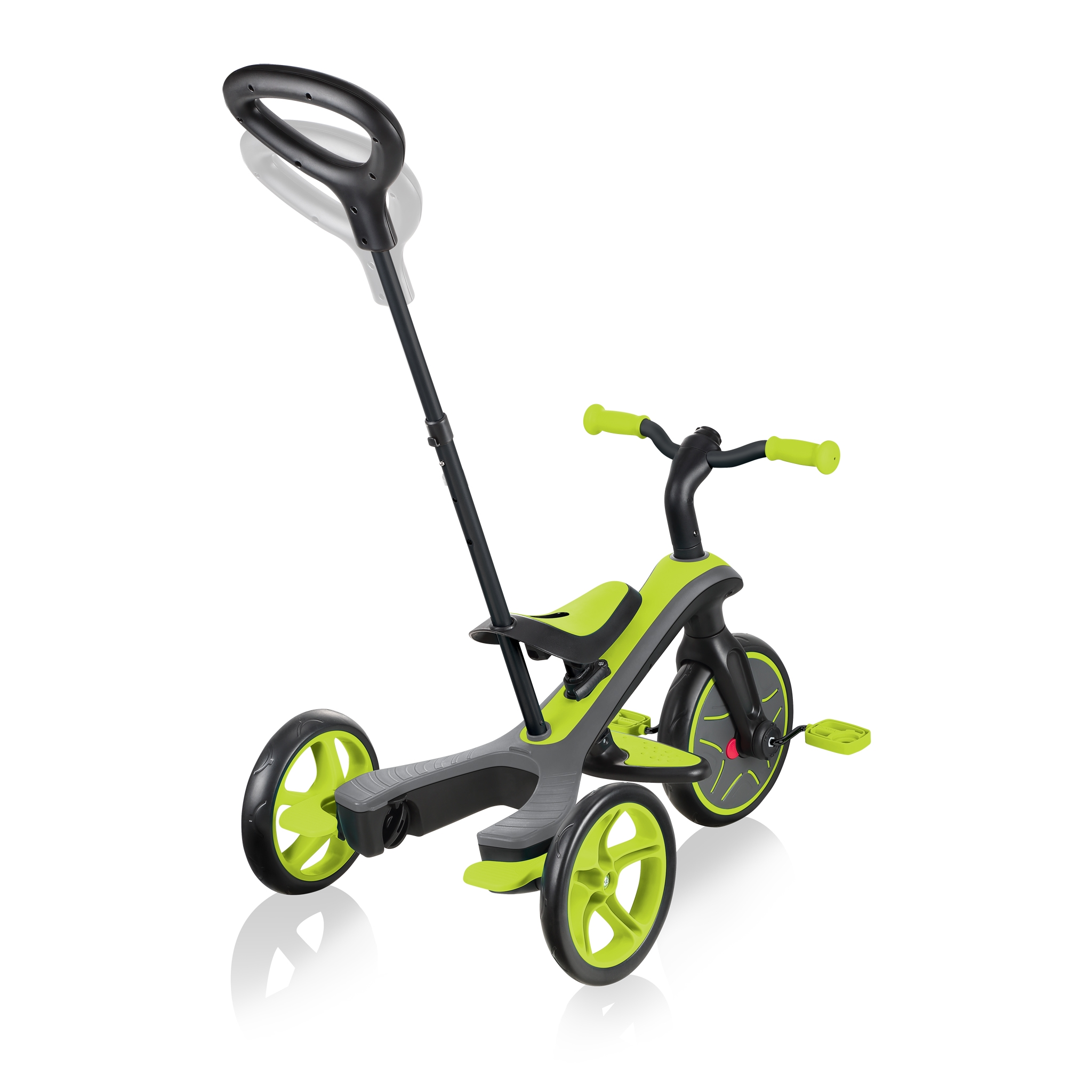 Globber-EXPLORER-TRIKE-4in1-all-in-one-baby-tricycle-and-kids-balance-bike-with-2-height-adjustable-parent-handle_lime-green