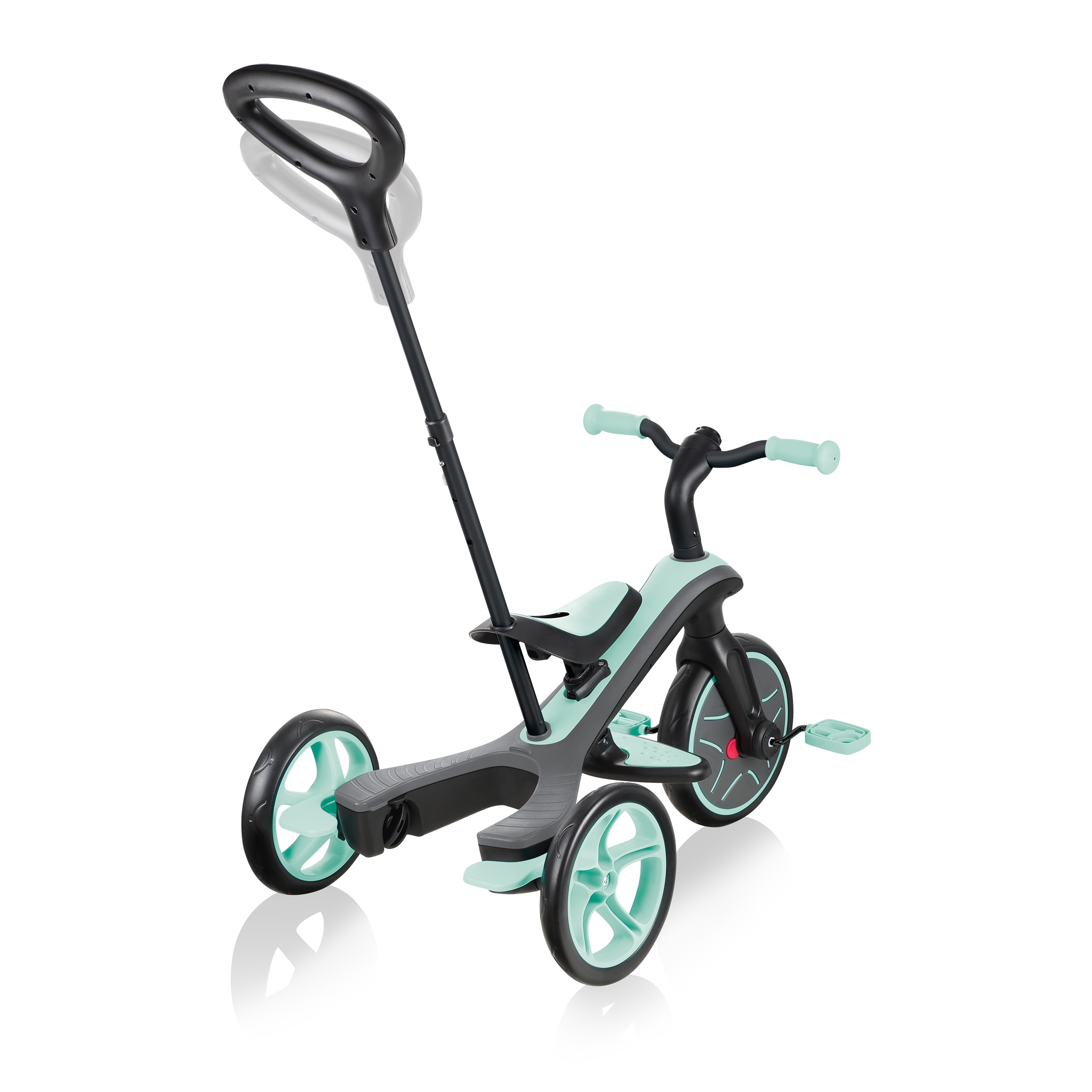 Globber-EXPLORER-TRIKE-4in1-all-in-one-baby-tricycle-and-kids-balance-bike-with-2-height-adjustable-parent-handle_mint