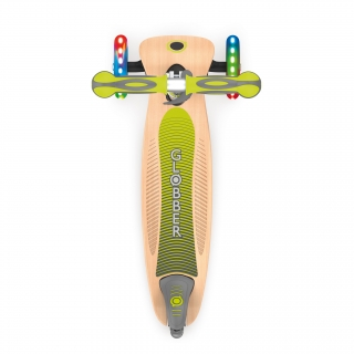PRIMO-FOLDABLE-WOOD-LIGHTS-3-wheel-with-7-ply-wooden-scooter-deck-and-laser-engraved-sides-on-the-deck_lime-green