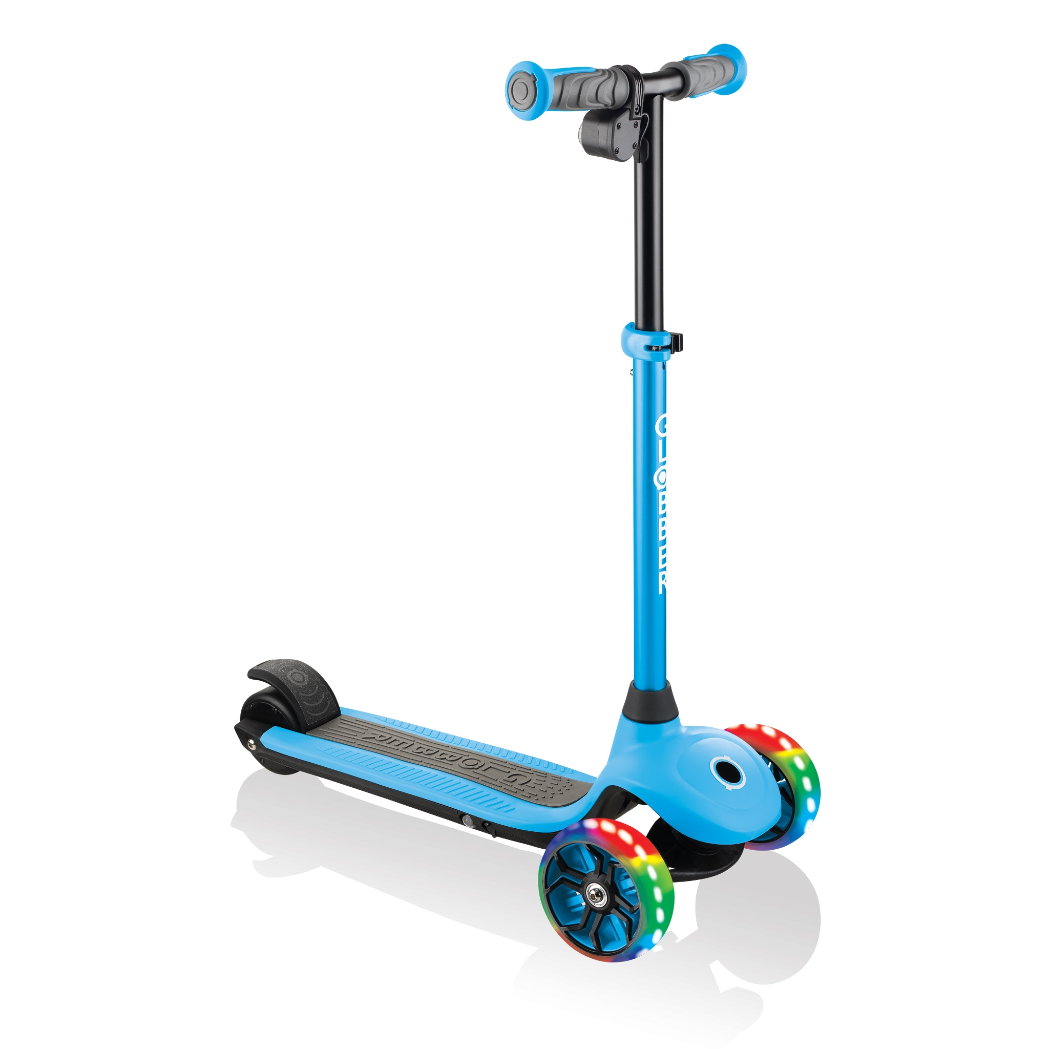 Globber-ONE-K-E-MOTION-4-award-winning-3-wheel-electric-scooter-for-boys-and-girls-with-80W-hub-motor_sky-blue 0