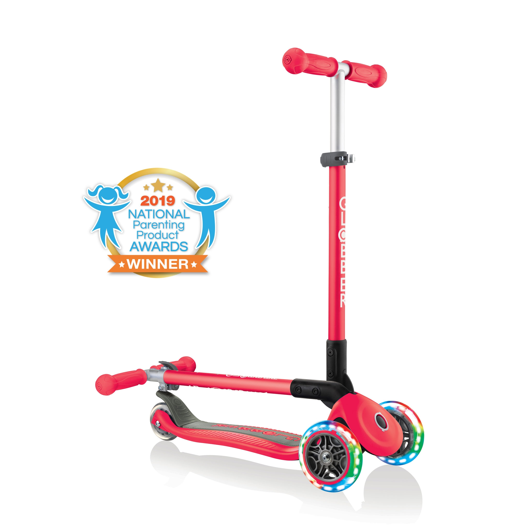 PRIMO-FOLDABLE-LIGHTS-3-wheel-fold-up-scooter-for-kids-new-red2 0