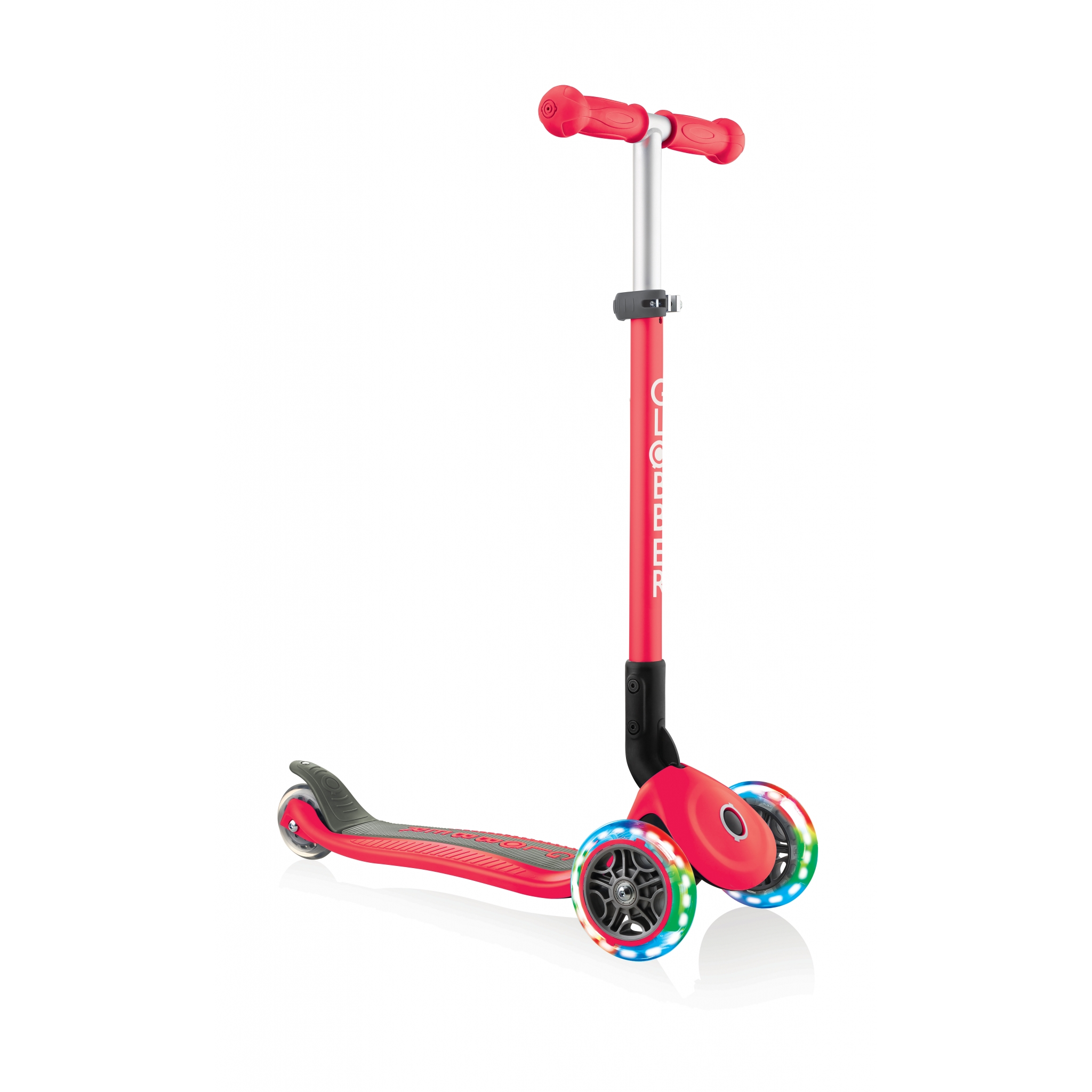 PRIMO-FOLDABLE-LIGHTS-3-wheel-foldable-scooter-light-up-scooter-for-kids-new-red 4