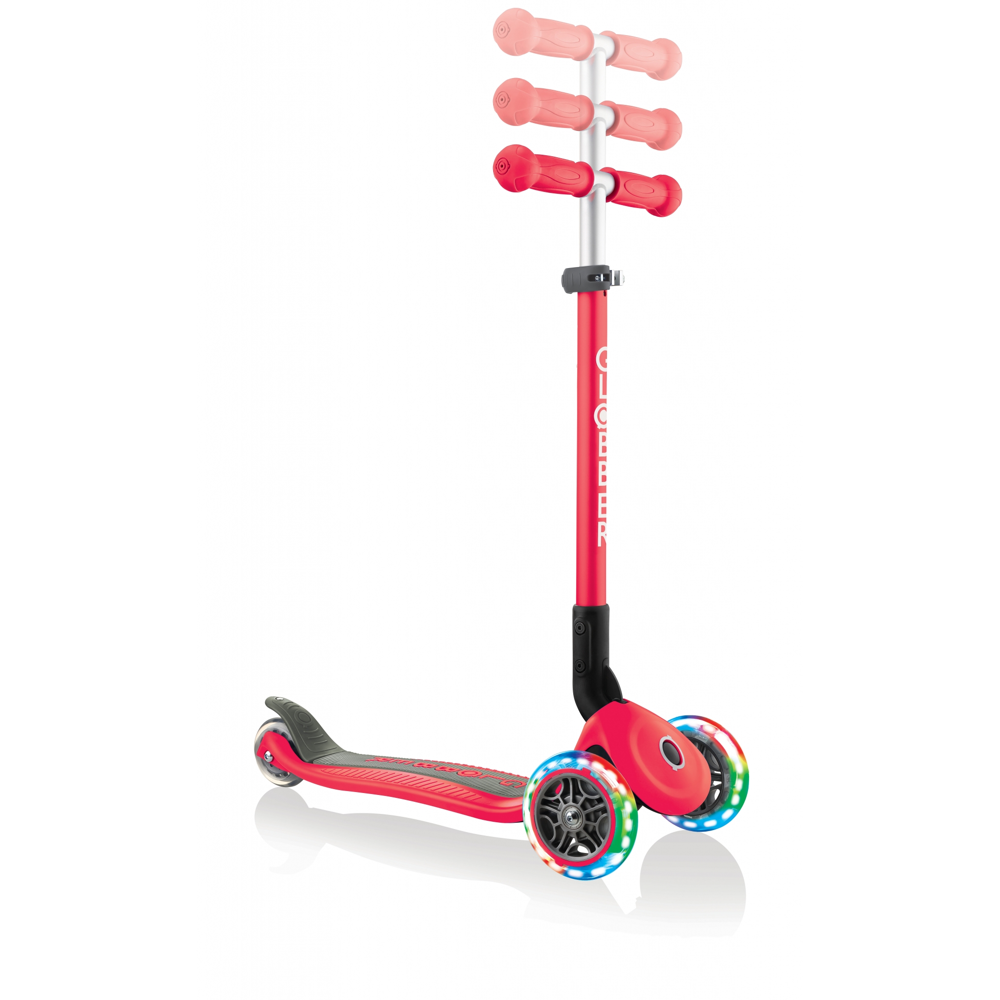 PRIMO-FOLDABLE-LIGHTS-adjustable-scooter-for-kids-new-red 5