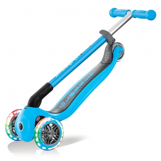 PRIMO-FOLDABLE-LIGHTS-3-wheel-foldable-scooter-for-kids-trolley-mode-sky-blue thumbnail 2