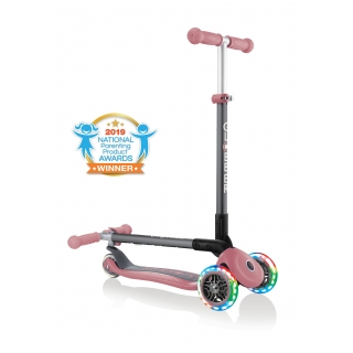 PRIMO-FOLDABLE-LIGHTS-3-wheel-fold-up-scooter-for-kids-pastel-deep-pink thumbnail 0
