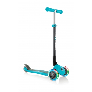 PRIMO-FOLDABLE-LIGHTS-3-wheel-foldable-scooter-light-up-scooter-for-kids-teal thumbnail 4