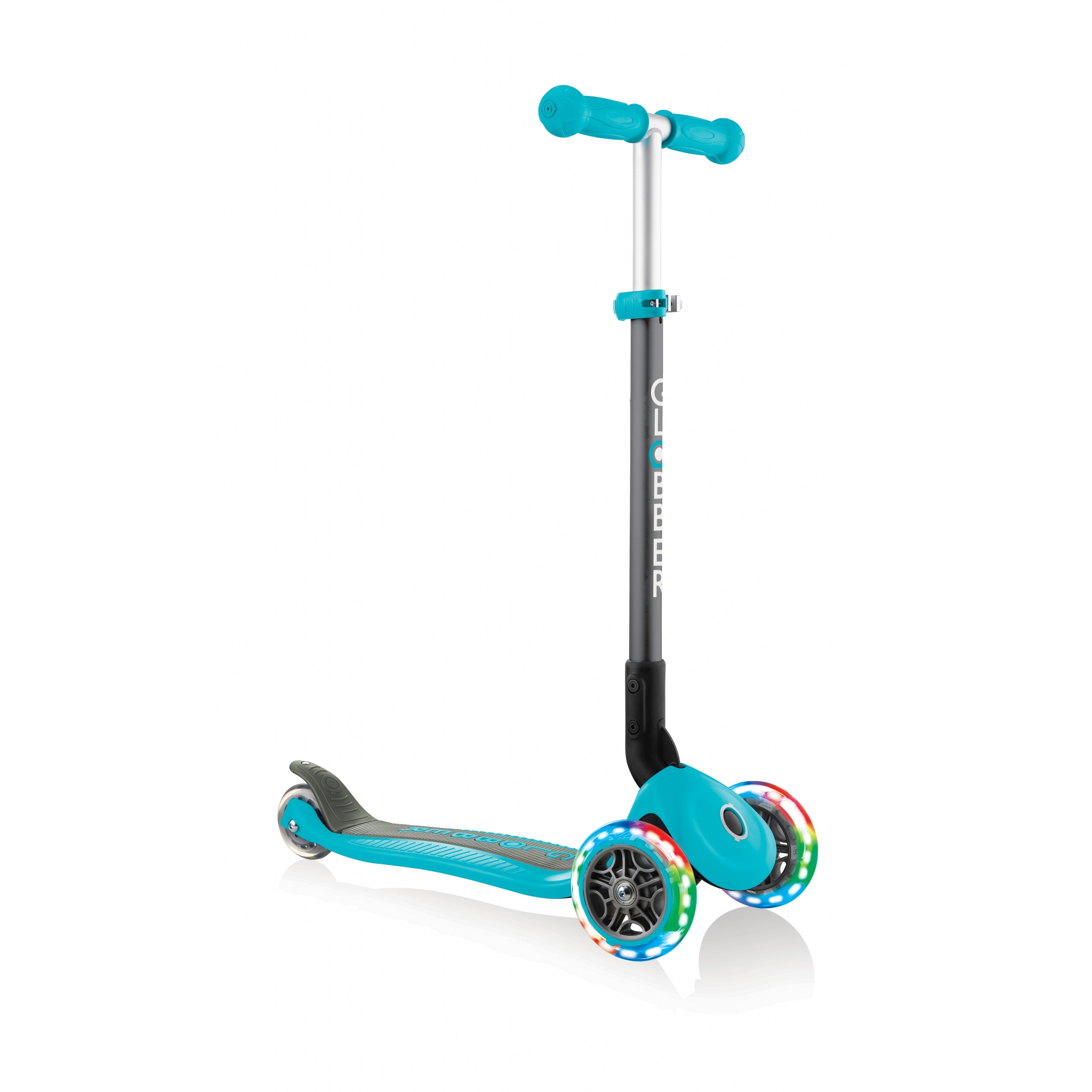PRIMO-FOLDABLE-LIGHTS-3-wheel-foldable-scooter-light-up-scooter-for-kids-teal 4