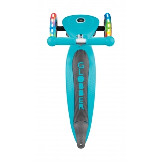 PRIMO-FOLDABLE-LIGHTS-3-wheel-light-up-scooter-for-kids-with-big-deck-teal thumbnail 3