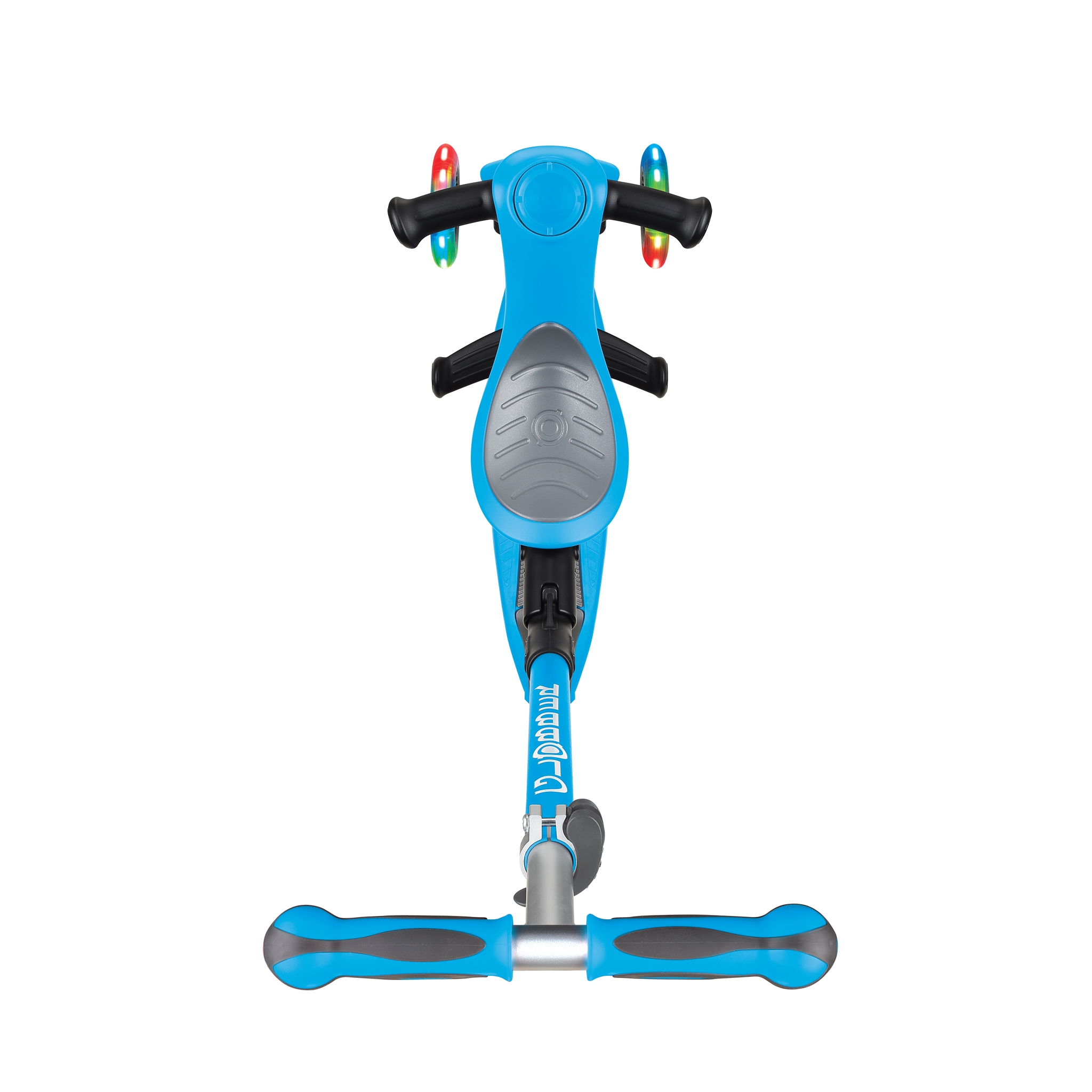 GO-UP-DELUXE-LIGHTS-ride-on-walking-bike-scooter-with-light-up-wheels-and-extra-wide-3-height-adjustable-seat-sky-blue 2