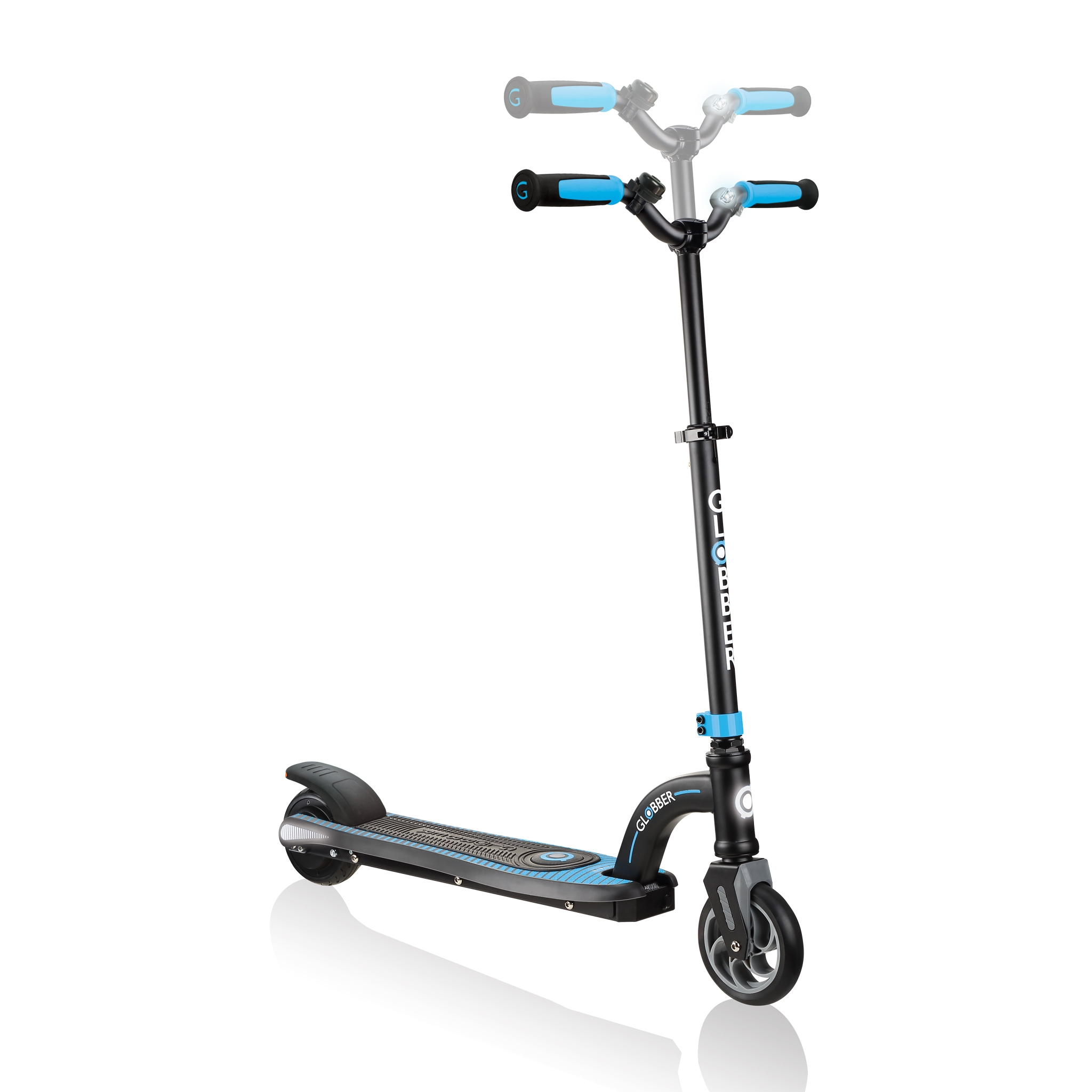 Globber-ONE-K-E-MOTION-10-best-electric-scooter-for-kids-aged-8+-adjustable-e-scooter-sky-blue 1