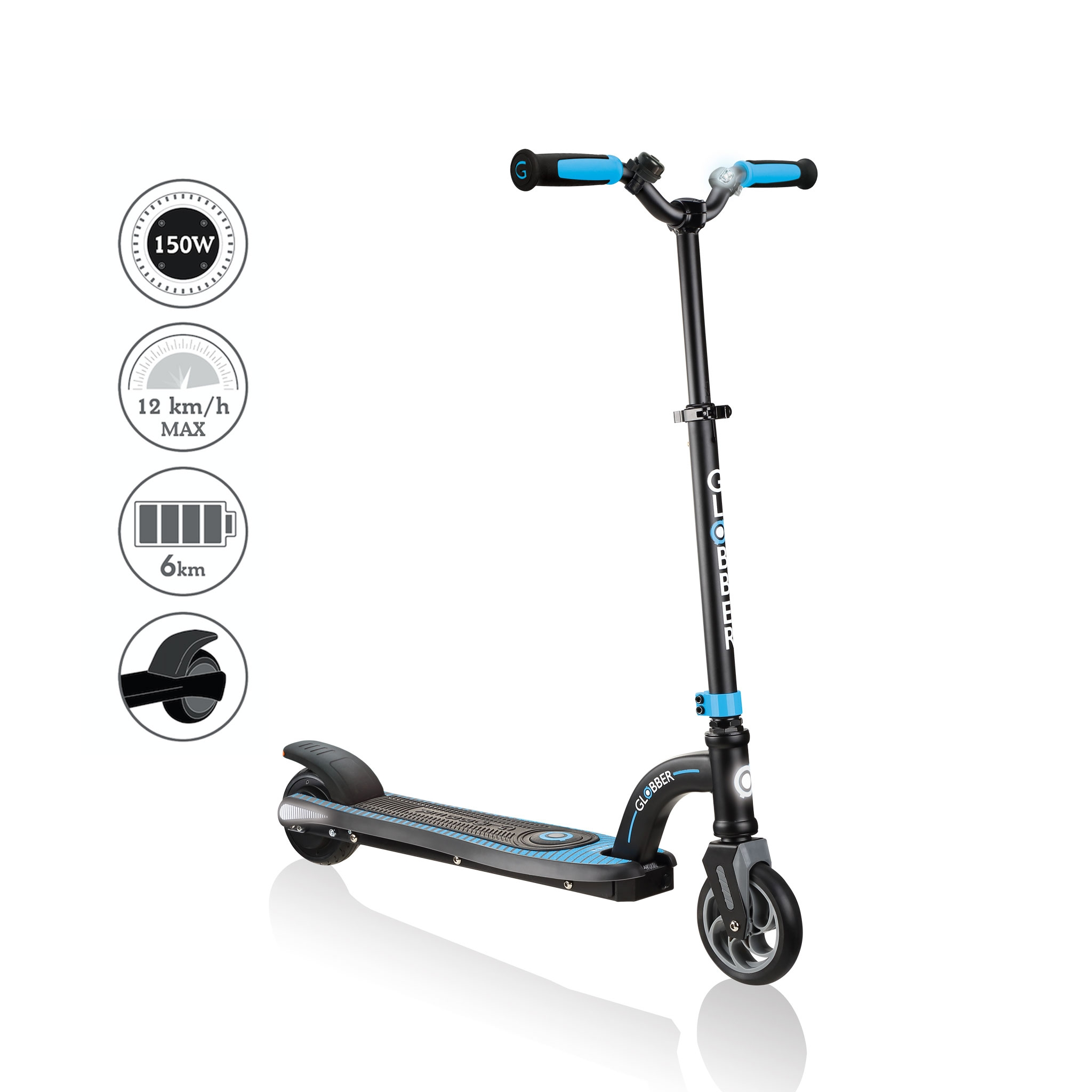 Globber-ONE-K-E-MOTION-10-best-electric-scooter-for-kids-aged-8+-sky-blue2 0