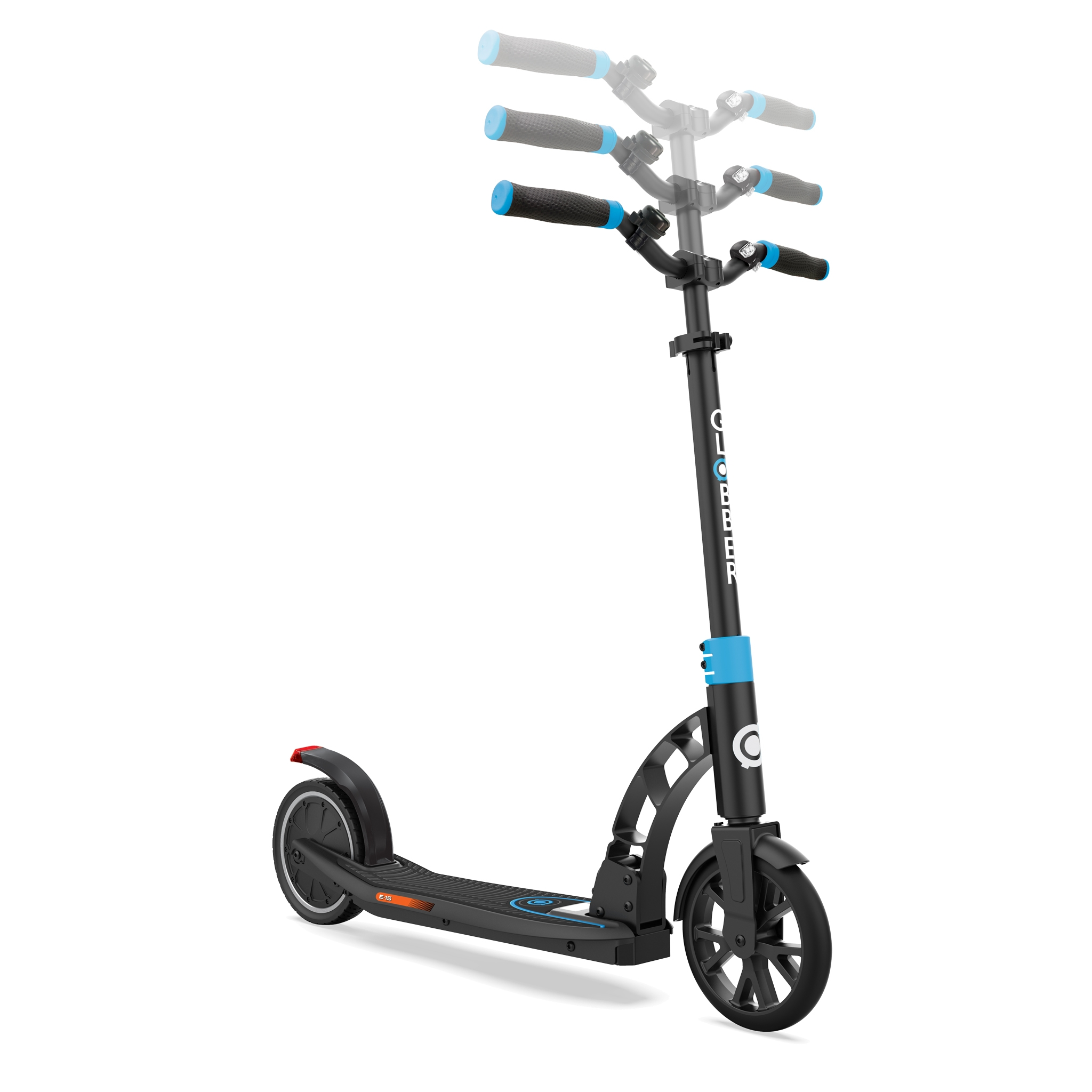 Globber-ONE-K-E-MOTION-15-foldable-electric-scooter-for-teens-and-young-adults-aged-14+-adjustable-e-scooter-sky-blue 1