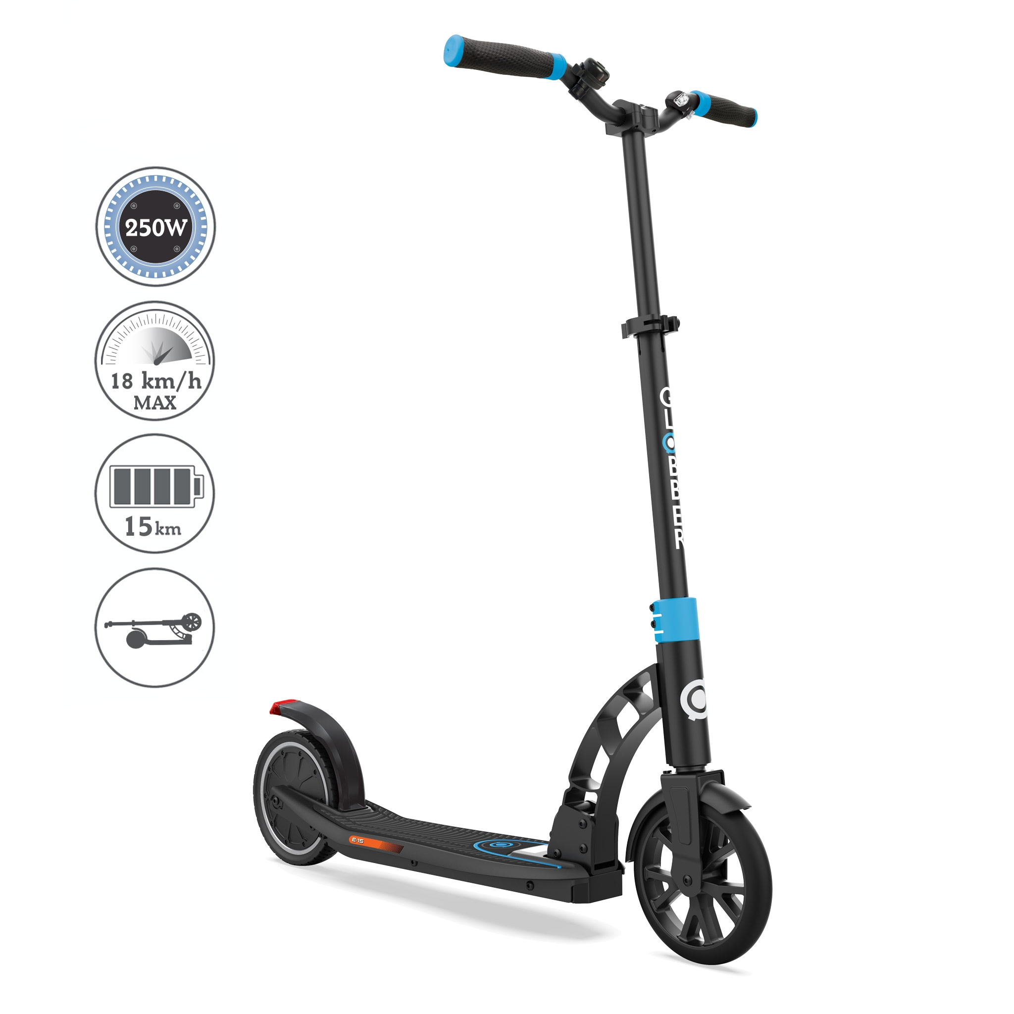 Globber-ONE-K-E-MOTION-15-foldable-electric-scooter-for-teens-and-young-adults-aged-14+-sky-blue 0