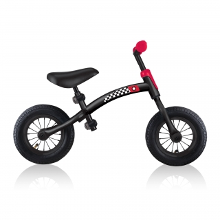 GO-BIKE-AIR-toddler-balance-bike-with-robust-steel-frame-and-shock-absorbing-rubber-tyres_black-red thumbnail 5