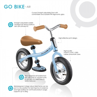 GO-BIKE-AIR-big-toddler-balance-bike-for-girls-and-boys-aged-3-to-6-with-rubber-air-tyres thumbnail 3