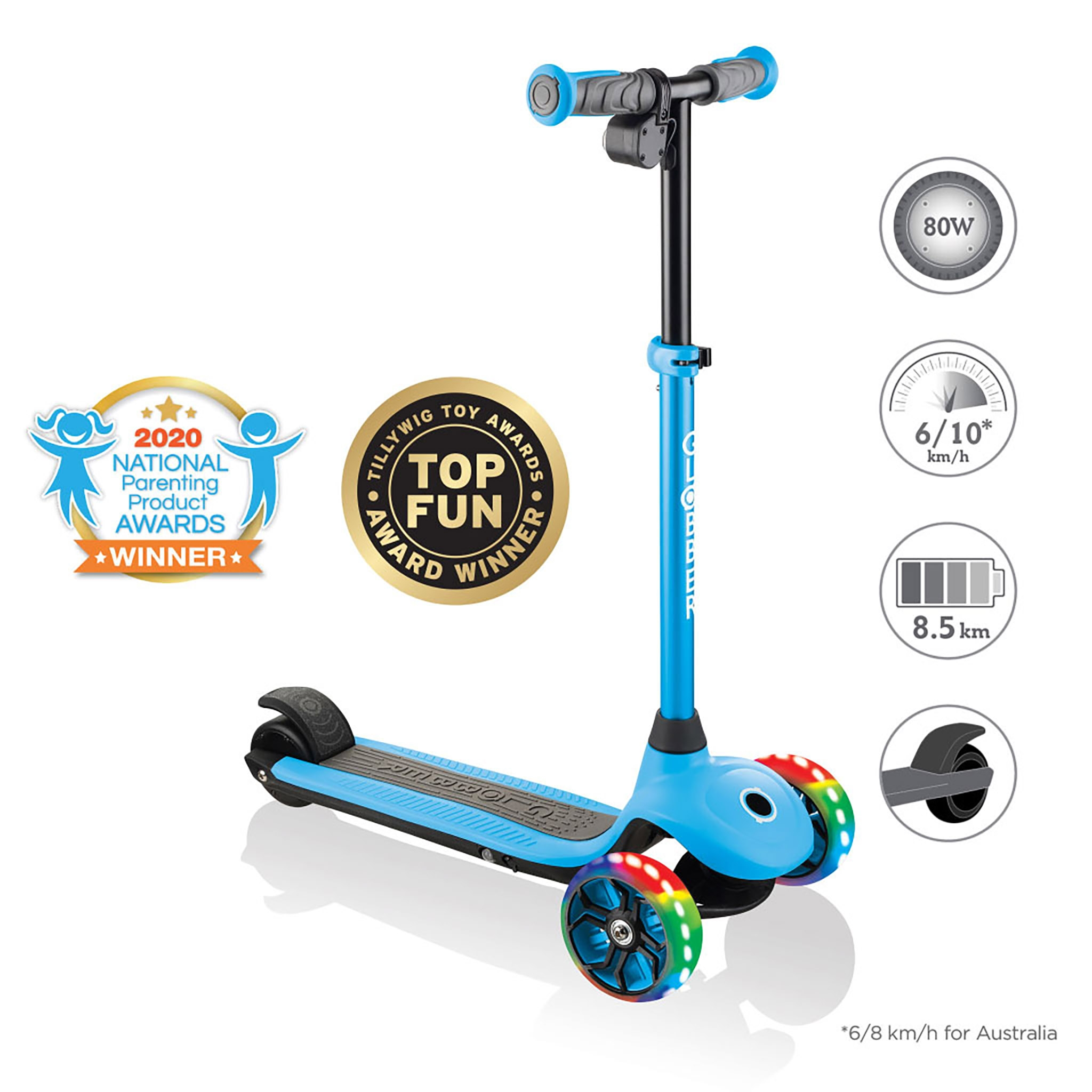 Globber-ONE-K-E-MOTION-4-award-winning-3-wheel-electric-scooter-for-boys-and-girls-with-80W-hub-motor 0