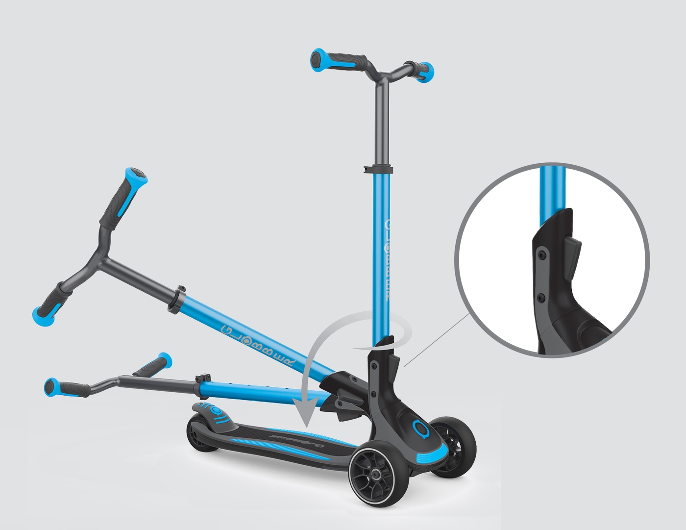 3-wheel foldable scooter for kids, teens & adults