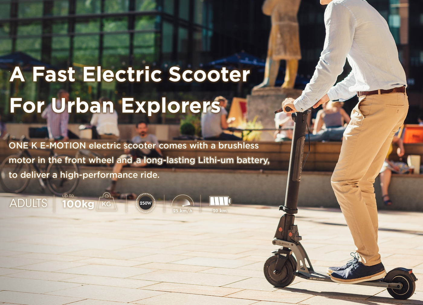 A fast electric scooter for urban explorers.